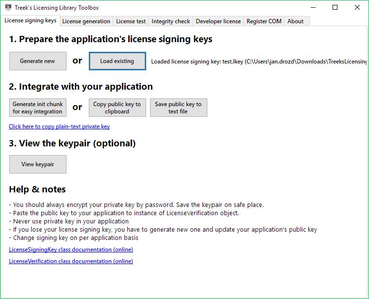 License keys generation & integration help